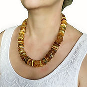 Работы для детей, handmade. Livemaster - original item Beads from amber medical natural raw amber 50 cm. Handmade.