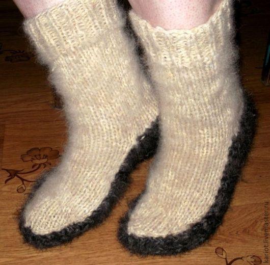 Носки, Чулки ручной работы. Ярмарка Мастеров - ручная работа. Купить Носки-чуни из собачьей и овечьей шерсти. Handmade.