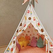 """Для дома и интерьера ручной работы. Ярмарка Мастеров - ручная работа Вигвам, детский домик, комплект """"Мороженое"""". Handmade."""