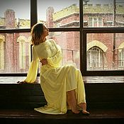 """Одежда ручной работы. Ярмарка Мастеров - ручная работа Платье """"Романтическое"""" лимонное. Handmade."""