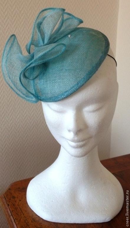 """Шляпы ручной работы. Ярмарка Мастеров - ручная работа. Купить Шляпка """"Бэль"""". Handmade. Голубой, шляпка, шляпка таблетка"""