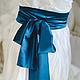Одежда и аксессуары ручной работы. Свадебное платье с шелковым поясом. 'MAIDEN  BAZAR'  creative workshop. Ярмарка Мастеров. Платье длинное