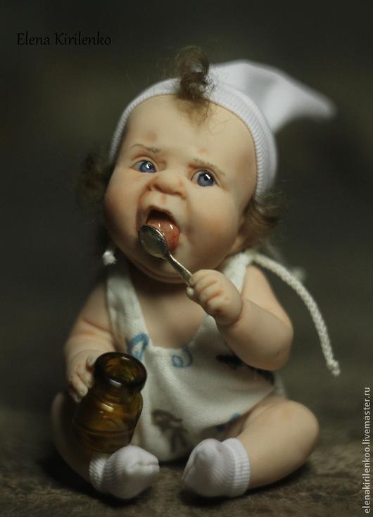 Коллекционные куклы ручной работы. Ярмарка Мастеров - ручная работа. Купить Обжорик)). Handmade. Белый, авторская кукла, хлопок