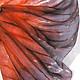 """Шарфы и шарфики ручной работы. Ярмарка Мастеров - ручная работа. Купить Шарф Батик""""Кораллово серый"""" шарф ручная роспись 100%Шелк. Handmade."""