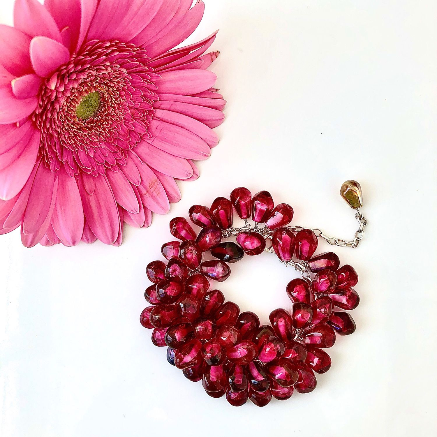 Garnet bracelet made of Italian glass with a high Gold content, Bead bracelet, Novosibirsk,  Фото №1