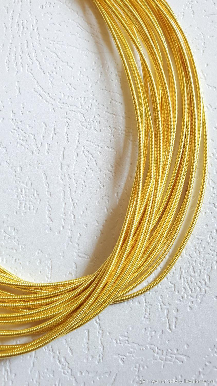 Канитель жесткая 1,25 мм, Материалы, Иркутск, Фото №1