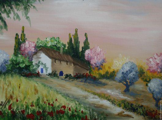 """Пейзаж ручной работы. Ярмарка Мастеров - ручная работа. Купить Картина """"Итальянский пейзаж"""". Handmade. Комбинированный, картина для интерьера, картина"""