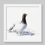 Картины и панно handmade. Livemaster - original item White grouse. Handmade.
