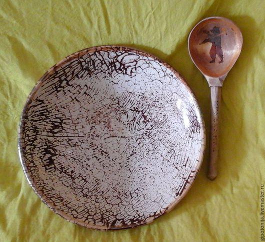 """Тарелки ручной работы. Ярмарка Мастеров - ручная работа. Купить Тарелка для десерта """"Какао"""". Handmade. Керамика, чайная пара"""