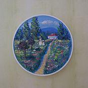 Посуда ручной работы. Ярмарка Мастеров - ручная работа Декоративная тарелка на стену. Handmade.