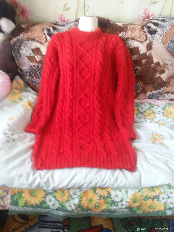 Платья ручной работы. Ярмарка Мастеров - ручная работа. Купить Ярко красное шерстяное платье. Handmade. Красный