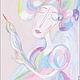 Фантазийные сюжеты ручной работы. Ярмарка Мастеров - ручная работа. Купить Ангел утренней зари. Handmade. Картина, картина для интерьера