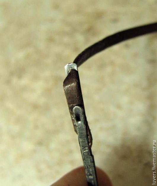 Другие виды рукоделия ручной работы. Ярмарка Мастеров - ручная работа. Купить Игла для шитья кожаной лентой. Handmade.
