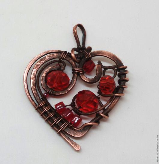 """Кулоны, подвески ручной работы. Ярмарка Мастеров - ручная работа. Купить Кулон """"Сердце"""". Handmade. Ярко-красный, недорогое украшение"""
