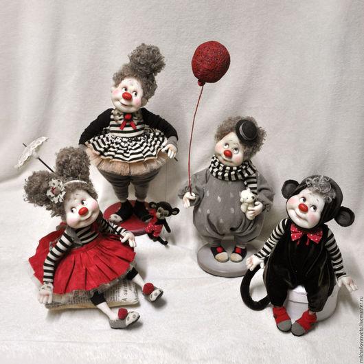 Коллекционные куклы ручной работы. Ярмарка Мастеров - ручная работа. Купить Татта. Handmade. Чёрно-белый, цирк, подарок женщине