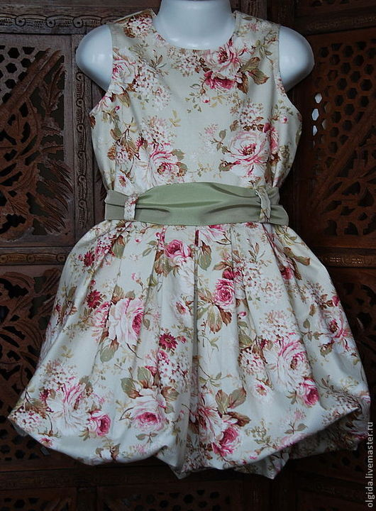 Одежда для девочек, ручной работы. Ярмарка Мастеров - ручная работа. Купить Платье для девочки РОЗЫ. Handmade. Платье для девочки