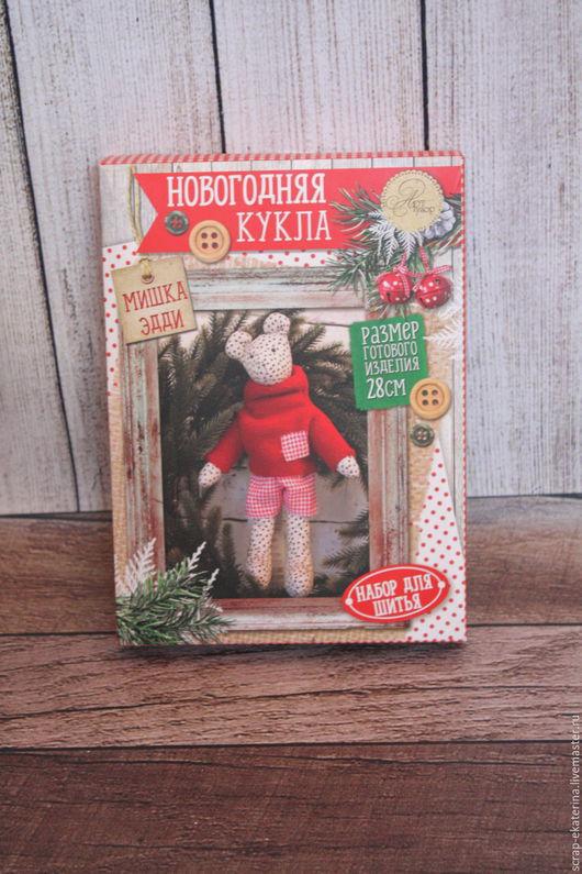 """Куклы и игрушки ручной работы. Ярмарка Мастеров - ручная работа. Купить Набор для шитья """"Мишка Эд """". Handmade. Комбинированный"""