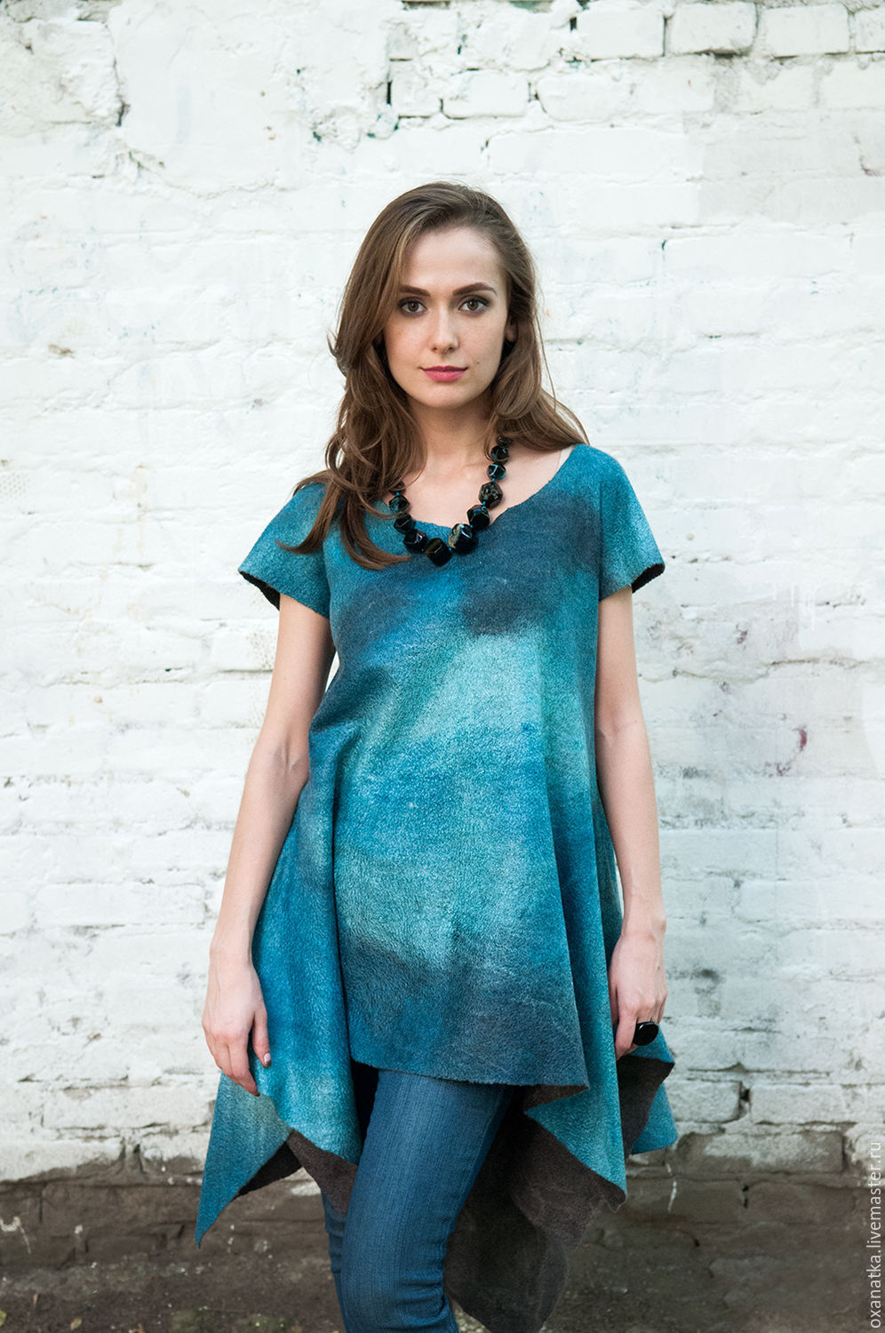 Felted tunic tropikanka – shop online on Livemaster with shipping ...