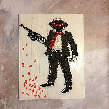 Картины и панно ручной работы. Ярмарка Мастеров - ручная работа Мафия. в стиле стринг арт. Handmade.