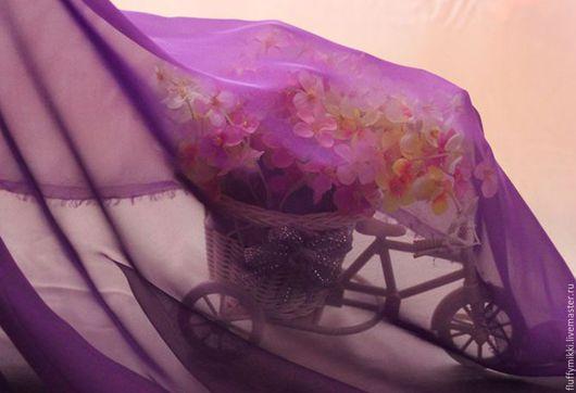 Шифон фиолетовый Для танцевальных костюмов, костюм для танца живота, костюм для восточных танцев, костюм для занятий танцами, сценический костюм.