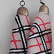 Украшения ручной работы. Ярмарка Мастеров - ручная работа серьги burberry бежевые. Handmade.