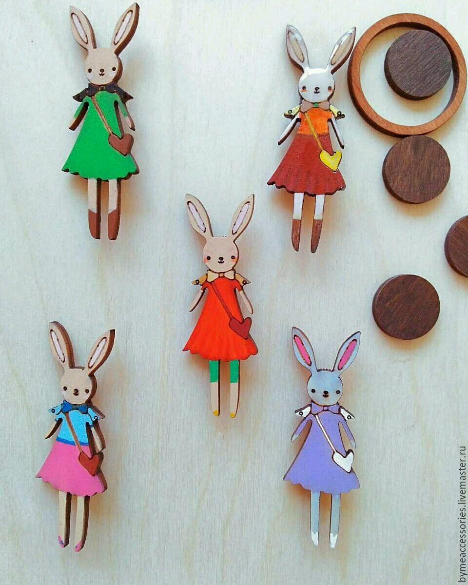 "Brooch ""Bunny in dress"", Badge, Permian,  Фото №1"