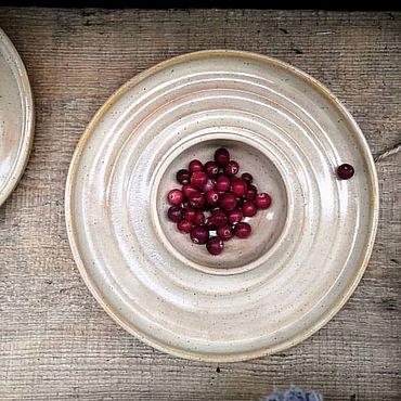 Посуда ручной работы. Ярмарка Мастеров - ручная работа Менажница. Handmade.