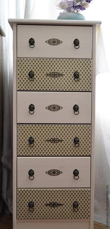 """Мебель ручной работы. Ярмарка Мастеров - ручная работа. Купить Комод """" Королевская лилия"""" 6 ящиков. Handmade. Белый"""