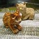 Игрушки животные, ручной работы. Ярмарка Мастеров - ручная работа. Купить котята. Handmade. Рыжий, фигурки, кошка игрушка, дерево