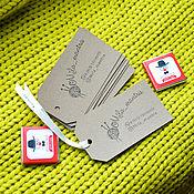 Материалы для творчества ручной работы. Ярмарка Мастеров - ручная работа Бирки на крафте с логотипом / на заказ. Handmade.