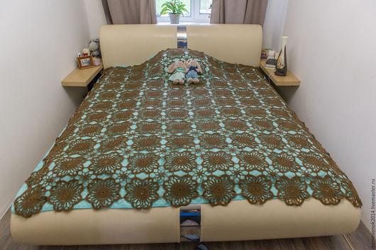 Текстиль, ковры ручной работы. Ярмарка Мастеров - ручная работа. Купить Плед Капучино. Handmade. Коричневый, капучино, акрил 50%