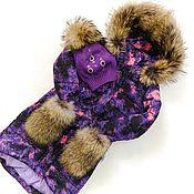 Работы для детей, ручной работы. Ярмарка Мастеров - ручная работа Зимний пуховик-пальто для девочки. Handmade.