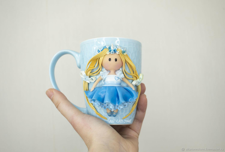One Unicorn S Decor On A Mug Of Polymer Clay Zakazat Na Yarmarke Masterov Ip5ancom Kruzhki I Chashki Krasnodar