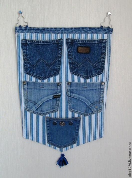 Детская ручной работы. Ярмарка Мастеров - ручная работа. Купить Настенные джинсовые карманы. Handmade. Карманы, настенные карманы