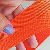 Ленты ручной работы. Ярмарка Мастеров - ручная работа Стропа ременная. Лента киперная. Цвет оранжевый, неоновый. Handmade.