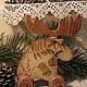"""Новый год 2018 ручной работы. Ярмарка Мастеров - ручная работа. Купить Лось """" Лесной житель """". Handmade."""