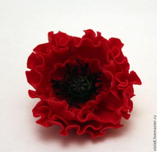 фото мак,брошь мак,брошь цветок,цветок мак,красный мак,красный цветок,красная брошь,алый мак,подарок на новый год,подарок женщине,подарок любимой.Цветы и украшения Зарифы Пироговой.viola8