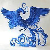 Для дома и интерьера ручной работы. Ярмарка Мастеров - ручная работа Синяя птица, птица счастья (статуэтка жарптица, птица феникс). Handmade.