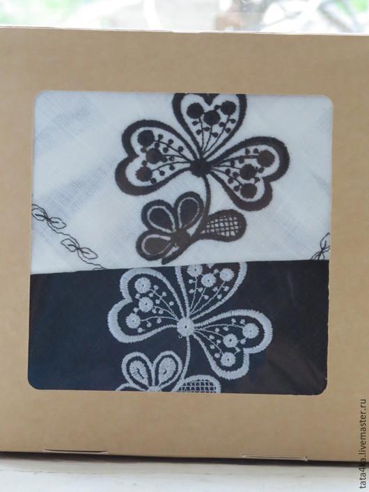 Текстиль, ковры ручной работы. Ярмарка Мастеров - ручная работа. Купить Подарочный набор. Handmade. Чёрно-белый, столовый текстиль