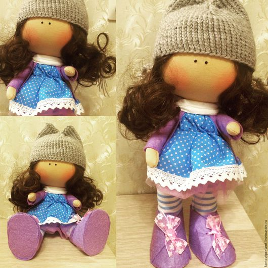 Куклы Тильды ручной работы. Ярмарка Мастеров - ручная работа. Купить Кукла ручной работы. Handmade. Фиолетовый, кукла в подарок