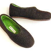 Обувь ручной работы handmade. Livemaster - original item Slippers made of natural wool, sizes 35 and 36 in stock. Handmade.