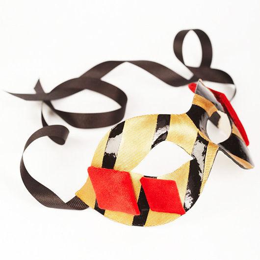 """Карнавальные костюмы ручной работы. Ярмарка Мастеров - ручная работа. Купить Карнавальная маска """"Бубновая дама"""". Handmade. маска, бархат"""