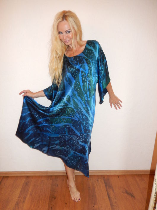Платья ручной работы. Ярмарка Мастеров - ручная работа. Купить платье - Брызги океана. Handmade. Тёмно-синий, нарядное платье