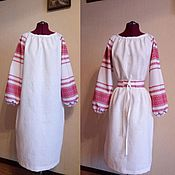 Одежда handmade. Livemaster - original item Dress linen .Snow-white beauty.. Handmade.