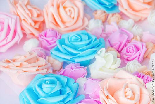 розы из фома диаметр 3см.