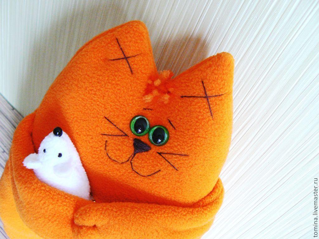 Котик из флиса своими руками