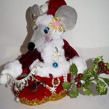 Сувениры и подарки ручной работы. Ярмарка Мастеров - ручная работа Атрибутика: крыса новогодняя. Handmade.
