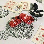 Одежда для кукол ручной работы. Ярмарка Мастеров - ручная работа Туфли для куклы Блайз Королевский крокет красные. Handmade.