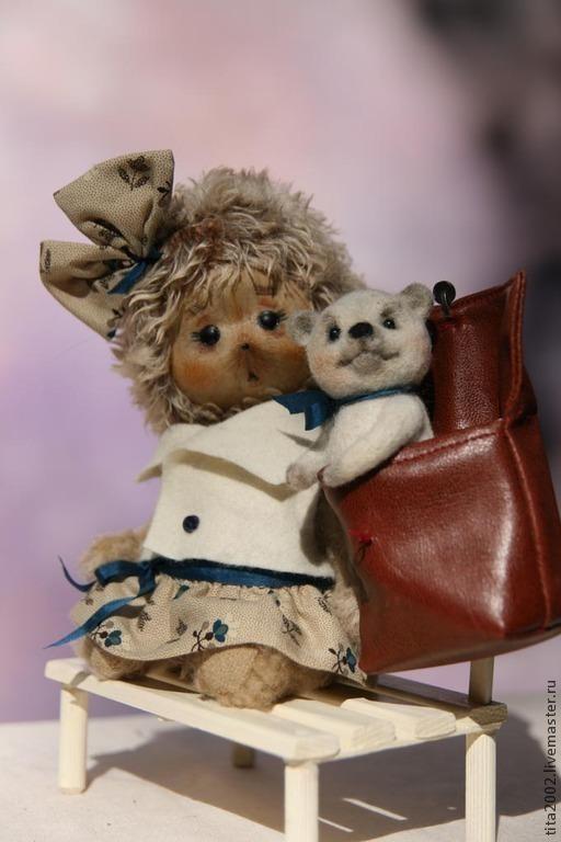 Мишки Тедди ручной работы. Ярмарка Мастеров - ручная работа. Купить Кнопины заботы. Handmade. Бежевый, осень, шерсть