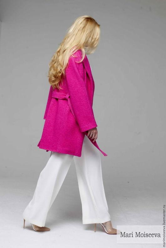 """Верхняя одежда ручной работы. Ярмарка Мастеров - ручная работа. Купить Пальто """"Pink dreams"""". Handmade. Фуксия, пальто из шерсти"""